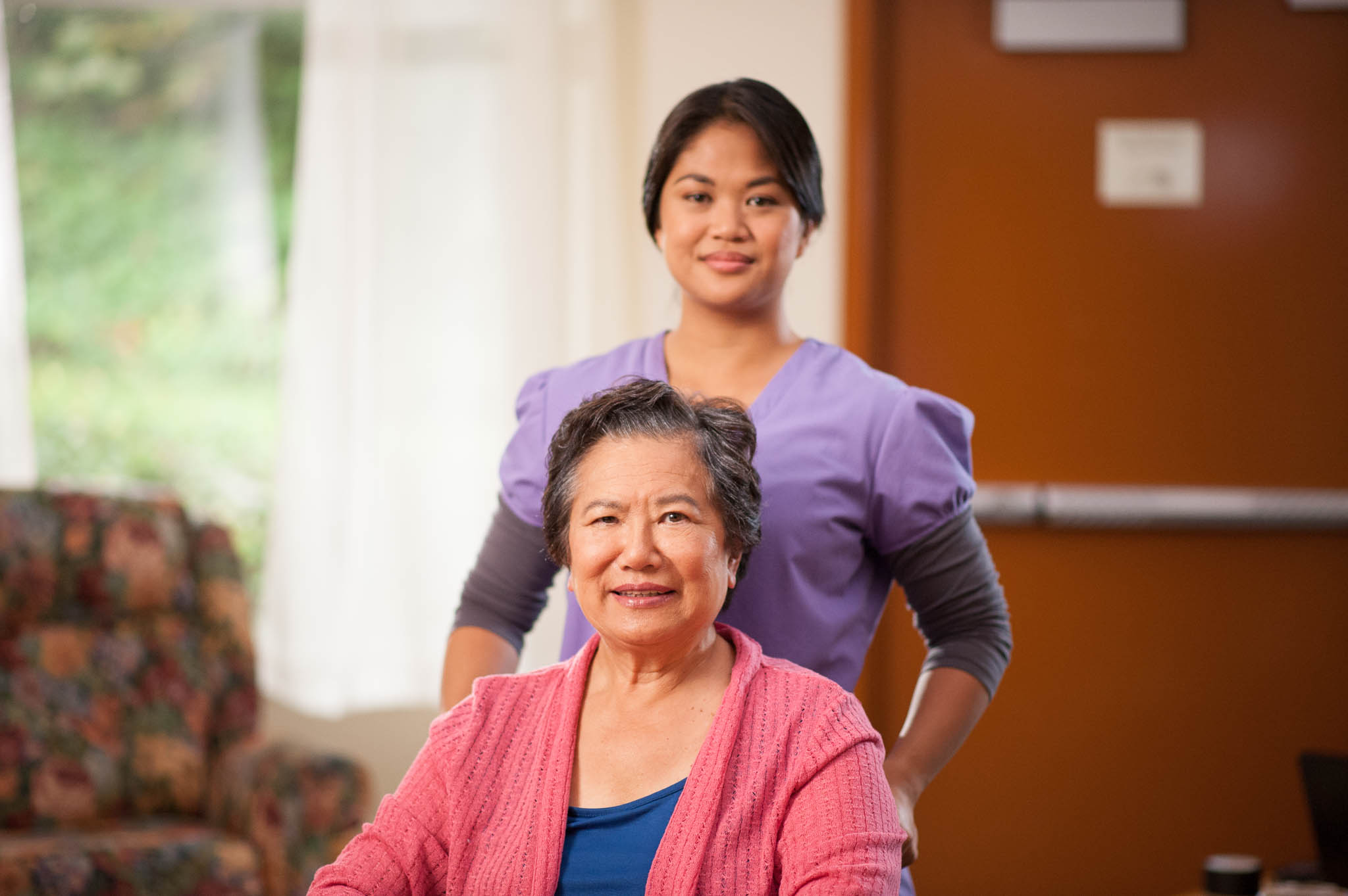 care aide with senior