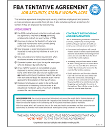 FBA Factsheet Job Security Stability