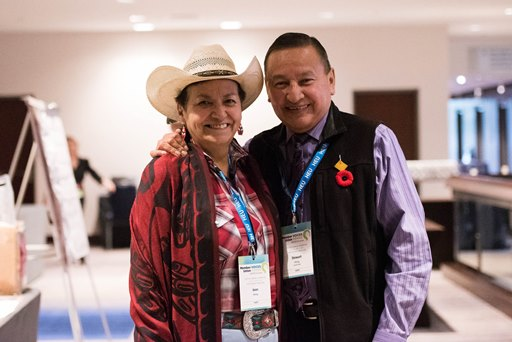 Joan Phillip and Grand Chief Stewart Phillip