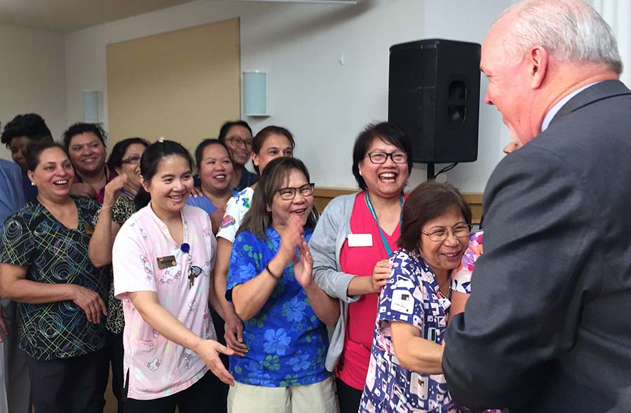 Care Aides meet Premier John Horgan