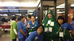 "Burnaby Hospital gets a visit from LWC ""live"" tree"