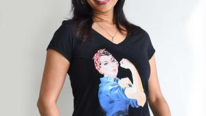 #3091: Rosie the Riveter traditional t-shirt - $22.00
