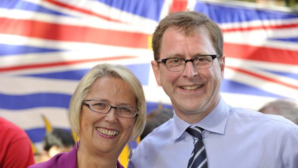 Adrian Dix and Judy Darcy