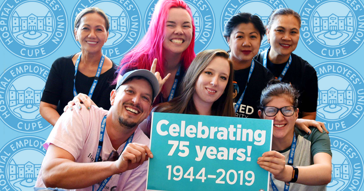75th Anniversary | Hospital Employees' Union